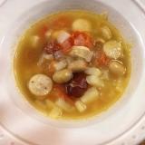 ミックスビーンズの野菜スープ
