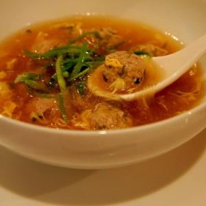 春雨と肉団子の中華スープ