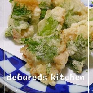 鶏肉と大葉の天ぷら