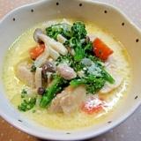塩麹と味噌が隠し味☆チキンと野菜のクリーム煮