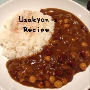 二色の豆と挽き肉のカレー