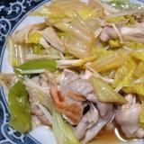 白菜と豚バラの炒め煮。