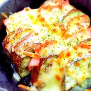 なすとベーコンのチーズ焼き