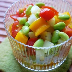 すし酢で簡単♪いろいろ野菜のころころマリネ