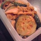 【お弁当】ズッキーニとツナのバターカレー炒め