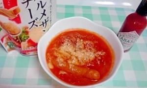 手作りミートソースの残りで、野菜のトマト煮♪