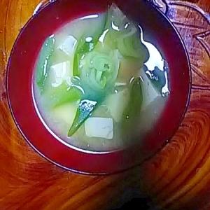 ネギ豆腐ニラ味噌汁