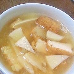 たけのこと厚揚げの中華スープ