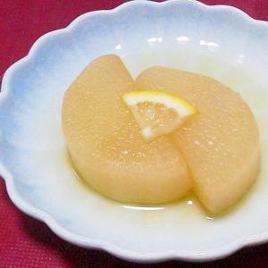 旨匠だしで大根煮~レモン砂糖をちょっぴり添えて