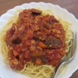 子供も喜ぶ、なすのミートスパゲティ
