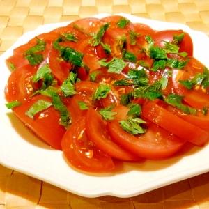 トマトのしそサラダ