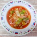トマトジュースで作る野菜スープ