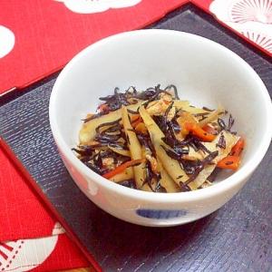 ごぼうとひじきの炒め煮