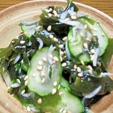 簡単☆きゅうりとわかめの中華サラダ