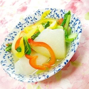 ❤冬瓜と彩り野菜の生姜にんにくスープ❤