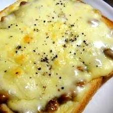 ★簡単☆納豆チーズトースト★