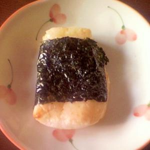 焼餅の磯辺巻き☆バター醤油風味