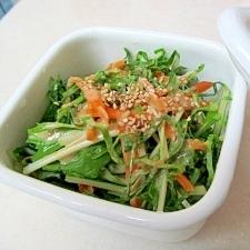 キャベツと水菜のサラダ