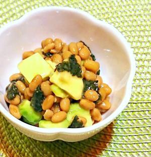 アボカド海苔納豆のポン酢和え