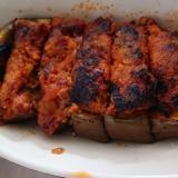 ツナでかさマシナスの肉詰め