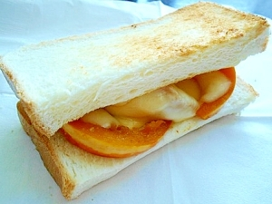 鶏むね肉とプッチーニのソテーでチーズトーストサンド