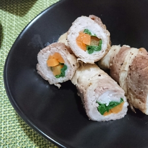 定番!常備菜になる☆豚の野菜巻き焼き
