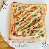 簡単♡ねぎ&納豆の和トースト