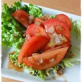 トマトがバルサミコ酢に恋したサラダ♡