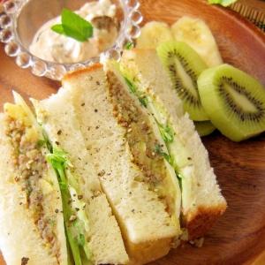 リメイクレシピ★ジャガイモのそぼろ煮でサンドイッチ