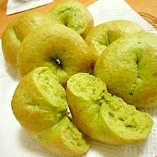 小松菜のみどりのベーグルパン