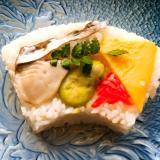 香川郷土料理。サワラの押し寿司