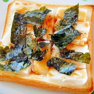 味付け海苔と七味の餅トースト