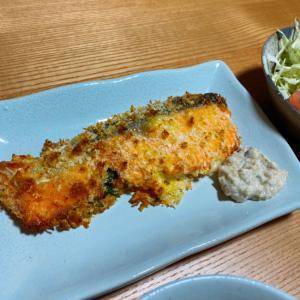 オーブンで!鮭の大葉とチーズ挟みパン粉焼き☆