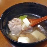 鶏と豆腐のお吸い物