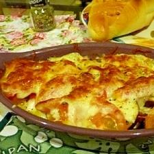 簡単&美味しい☆なすとトマトのマヨチーズグラタン