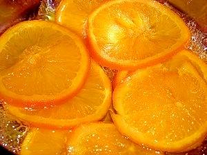 ケーキに☆オレンジのシロップ煮