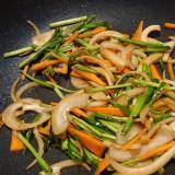 ニンニクたっぷりソース野菜炒め