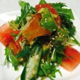 旬の柿を使って☆柿サラダ