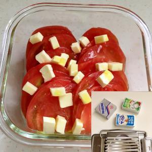 トマトとベビーチーズの簡単カプレーゼ風