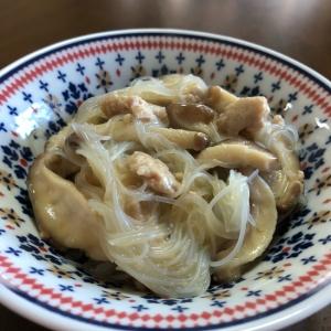 ひき肉と椎茸のとろみビーフン