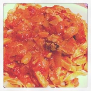 フィットチーネのトマトソース