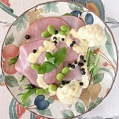 水菜、枝豆、カリフラワーのサラダ