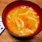 毎日のお味噌汁220杯目*南瓜と玉葱、焼き油揚げ