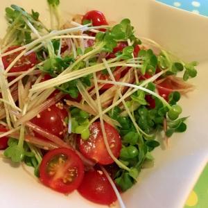 トマトとみょうがの和風サラダ