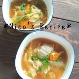 白菜とにんじんの中華スープ