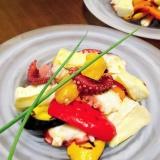 タコと夏野菜とカマンベールのマリネ