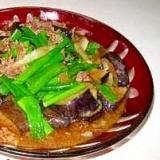 ご飯によく合うナスとネギの牛肉のピリカラ味噌炒め