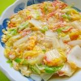 白菜とカニカマの中華煮