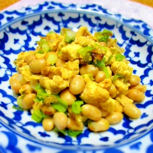 大豆と卵のおかず炒め