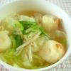 キャベツと麩のコンソメスープ